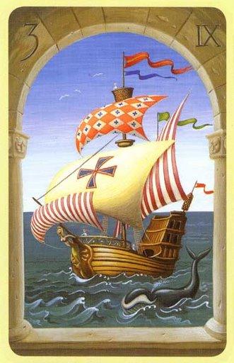 significado de la carta el barco en la tirada de tarot de lenormand