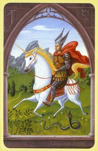 Carta el jinete en el tarot lenormand