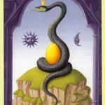 significado de la carta la serpiente en la tirada de tarot de lenormand