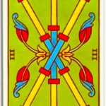 tirada carta tarot tres de bastos para geminis en el mes de marzo 2012