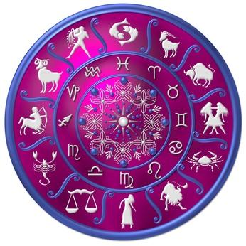 astraologie scheibe pink - violett